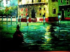 Venedig Lagunen Gemälde Maximus Bernburg Italienisches Restaurant Café Bildlegende: Venedig Lagunen Maximus Bernburg © noten-apitz.de Bildquelle: Musikverlag Apitz