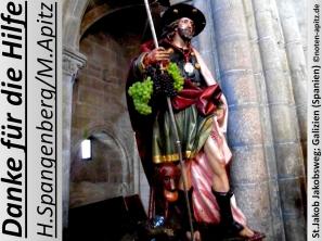 Danke für die Hilfe H. Spangenberg / M. Apitz; St.Jacob Jakobsweg; Galizien (Spanien) Sparte: 20.+ 21. Jh. Konzert