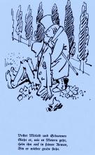 """Wilhelm Busch: """"Tobias Knopp"""" """"Die Haarbeutel""""(""""Der Undankbare""""); Bildquelle: Wilhelm Busch-Album, Humoristischer Hausschatz, Sammlung der beliebtesten Schriften mit 1500 Bildern, 22. Auflage München Verlag v. Fr. Bassermann, 1911"""