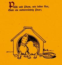 Wilhelm Busch: Plisch und Plum 2. Kapitel ©noten-apitz.de; Bildquelle: Wilhelm Busch-Album, Humoristischer Hausschatz, Sammlung der beliebtesten Schriften mit 1500 Bildern, 22. Auflage München Verlag v. Fr. Bassermann, 1911