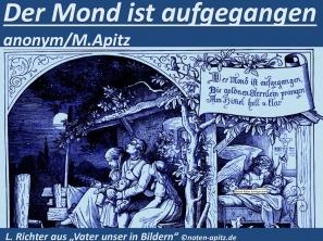 """Der Mond ist aufgegangen anonym/M. Apitz; L. Richter – Ludwig Richter """"Vater unser in Bildern"""" Sparte: Deutschland Volkslied"""