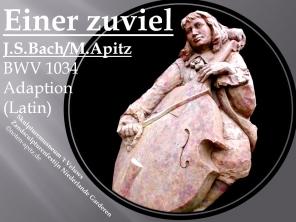 Einer zuviel J. S. Bach / M. Apitz BWV 1034 – Adaption (Latin); Skulpturemusneum 't Veluws Zandsculpturenfestijn Niederlande Garderen Sparte: 17.+18. Jh. Konzert