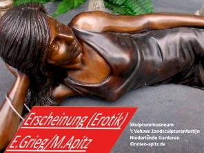Erscheinung (Erotik) E. Grieg / M. Apitz; Skulpturenmuseum 't Veluws Zandsculpturenfestijn Niederlande Garderen Sparte: 19. Jh. Konzert