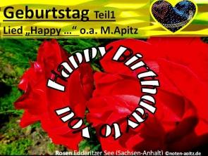 """Geburtstag Teil1, Lied """"Happy …"""" o.a. M. Apitz (Manfred Apitz); Rosen Edderitzer See (Sachsen-Anhalt) Sparte: 20.+21. Jh. Konzert"""