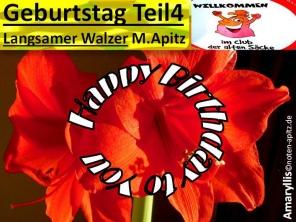 Geburtstag Teil 4, Langsaamer Walzer, M. Apitz (Manfred Apitz); Amaryllis Sparte: 20. +21. Jh. Konzert
