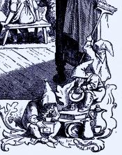 """Ludwig Richter: """"Hausmärchen"""" ©noten-apitz.de; Bildquelle: Ludwig Richter-Gabe, Eine Auslese aus den Werken des Meisters mit Texten von Ferdinand Avenarius, Herausgeber: Leipziger Lehrerverein, Verlag von Alphons Dürr, Leipzig 1905"""