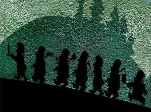 Bild: Die sieben Zwerge – Märchenfiguren, Fassadenbild, Bernburg (Saale) Gaststätte Paradies Ilberstedter Str. Bildlegende: Märchengarten Paradies Bernburg S.-Anhalt © noten-apitz.de Bildquelle: Musikverlag Apitz