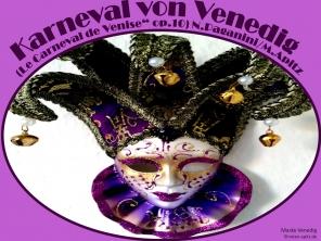Karneval von Venedig Bild: Venezianische Masken für das Nacherleben des Carneval di Venezia Bildlegende: Maske Venedig © noten-apitz.de Bildquelle: Häckel