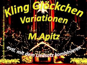 Kling Glöckchen-Variationen, M. Apitz (Manfred Apitz); St. Jakob Köthen Weihnachtskrippe Sparte: Weihnachten