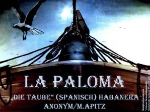La Paloma Bild: Fischerboot Taube Bildlegende: Skulpturemusneum 't Veluws Zandsculpturenfestijn Niederlande Garderen © noten-apitz.de Bildquelle: Musikverlag Apitz