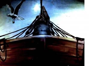 Bild: Fischerboot Taube Bildlegende: Skulpturemusneum 't Veluws Zandsculpturenfestijn Niederlande Garderen © noten-apitz.de Bildquelle: Musikverlag Apitz
