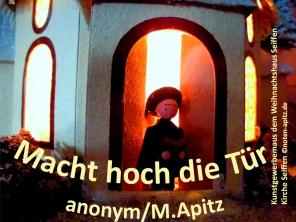 Macht hoch die Tür, anonym/M.Apitz; Kunstgewerbemaus dem Weihnachtshaus Seiffen, Kirche Seiffen Sparte: Weihnachten