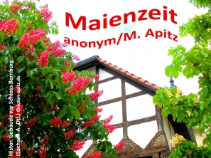 Maienzeit, anonym/M. Apitz; historisches Gebäude vor dem Schloss Bernburg, Sachsen-Anhalt, Deutschland Sparte: Deutschland Volkslied