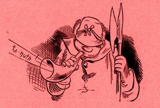 Wilhelm Busch, Bilder zu Jobsiade, 9. Kap. – 9. Kapitel ©noten-apitz.de; Bildquelle: Wilhelm Busch-Album, Humoristischer Hausschatz, Sammlung der beliebtesten Schriften mit 1500 Bildern, 22. Auflage München Verlag v. Fr. Bassermann, 1911