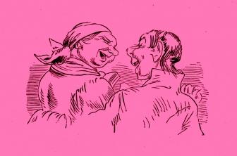 Wilhelm Busch – Die fromme Helene, Die Wallfahrt ©noten-apitz.de; Bildquelle: Wilhelm Busch-Album, Humoristischer Hausschatz, Sammlung der beliebtesten Schriften mit 1500 Bildern, 22. Auflage München Verlag v. Fr. Bassermann, 1911