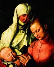 Jungfrau und Kind mit der heiligen Anna-NewYork Albrecht Dürer ©noten-apitz.de; Bildquelle: Metropolitan Museum New-York, et Editions Cercle d' Art 1961