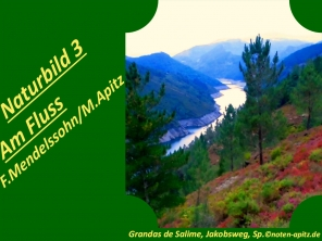 Naturbilder 3 Am Fluss, F. Mendelssohn / M. Apitz (Felix Mendelssohn Bartholdy / Manfred Apitz); Grandas de Salime, Jakobsweg, Sp. Sparte: 19. Jh. Konzert