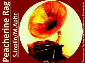 Peacherine Rag, S. Joplin/M. Apitz (Scott Joplin/Manfred Apitz); Grammophon, Bernburg Saale indisches Restaurant Sparte: 20.+21. Jh. Konzert