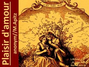 Plaisir d'amour anonym/M. Apitz (Manfed Apitz) Sparte: Frankreich Volkslied