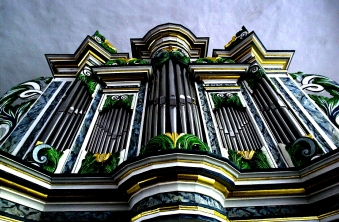 Zuberbier-Orgel Köthen Schlosskapelle (aus Zabitz-Thurau b. Köthen, Anhalt) ©noten-apitz.de; Bildquelle: Musikverlag Apitz