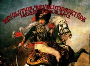 Revolution Bild: Jean-Louis André Théodore Géricault Reiteroffizier in Uniform mit Säbel Schlacht (Hintergrund) Bildlegende: T. Géricault Reiteroffizier Louvre © noten-apitz.de