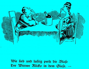 Die fromme Helene, Die Hochzeitsreise ©noten-apitz.de; Bildquelle: Wilhelm Busch-Album, Humoristischer Hausschatz, Sammlung der beliebtesten Schriften mit 1500 Bildern, 22. Auflage München Verlag v. Fr. Bassermann, 1911