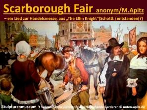 """Scarborough Fair – ein Lied zur Handelsmesse – evtl. aus """"The Elfin Knight"""" (Schottland) entstanden) anonym / M. Apitz; Skulpturenmuseum 't Veluws Zandsculpturenfestijn Niederlande Garderen Sparte: Irland Volkslied"""