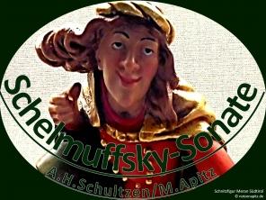 Schelmuffsky-Sonate A.H.Schultzen/M.Apitz Bildlegende: Schnitzfigur Meran Südtirol Bildquelle: Musikverlag Apitz