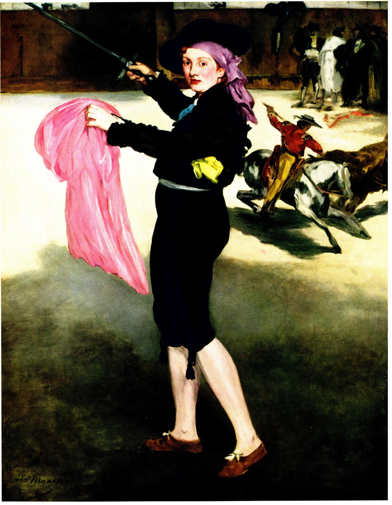 E. Manet (Édouard Manet) Modemoiselle victorine in the costume of an espada, Metropoiten New York ©noten-apitz.de; Bildquelle: Metropolitan Museum New-York, et Editions Cercle d' Art 1961