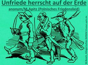 Unfriede herrscht auf der Erde anonym / M. Apitz (Manfred Apitz); Wilhelm Busch, Allegorisches Zeitbild Sparte: Deutschland geistlich