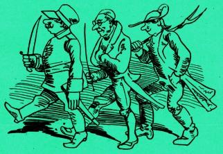 Wilhelm Busch, Allegorisches Zeitbild ©noten-apitz.de; Bildquelle: Wilhelm Busch-Album, Humoristischer Hausschatz, Sammlung der beliebtesten Schriften mit 1500 Bildern, 22. Auflage München Verlag v. Fr. Bassermann, 1911