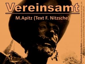 """Vereinsamt, Manfred Apitz (Text F. Nitzsche); Holland Amsterdam Platz: Rembrandtplein / Buttermarkt Rembrandt van Rijn """"Die Nachtwache"""" / De Nachtwacht Denkmal Einzelfigur Allegorie Sparte: Konzert 20./21. Jh."""