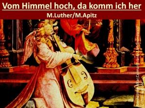 Vom Himmel hoch, da komm ich her M. Luther / M. Apitz (Martina Luther/ Manfred Apitz); Isenheimer Altar, Colmar (Frankr.), Matthias Grünewald Sparte: Weihnachten