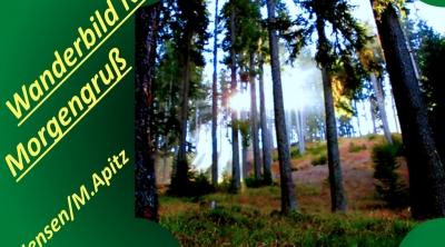 Wanderbild Nr. 1 Morgengruß; A. Jensen / M. Apitz (Adolf Jensen / Manfred Apitz); Sonnenaufgang Südtirol (It.) zw. Maria Schnee / Aschbach u. Vigiljoch ©noten-apitz.de; Bildquelle: Musikverlag Apitz