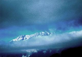 Südtirol (It.) Bergkette Meran s/w (Südtirol Italien bergkette süd-west von Meran ©noten-apitz.de; Bildquelle: Musikverlag Apitz