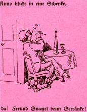 Maler Klecksel ©noten-apitz.de; Bildquelle: Wilhelm Busch-Album, Humoristischer Hausschatz, Sammlung der beliebtesten Schriften mit 1500 Bildern, 22. Auflage München Verlag v. Fr. Bassermann, 1911
