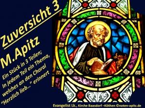 Zuversicht 3 M. Apitz (Manfred Apitz); Evangelist Lk., Kirche Baasdorf – Köthen Sparte: 20.+21. Jahrhundert