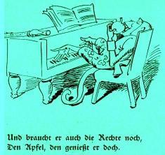 W. Busch Fipps, der Affe ©noten-apitz.de; Bildquelle: Wilhelm Busch-Album, Humoristischer Hausschatz, Sammlung der beliebtesten Schriften mit 1500 Bildern, 22. Auflage München Verlag v. Fr. Bassermann, 1911