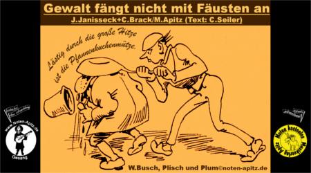 J. Janisseck + C. Brack kostenlose Noten Gesang Sopran Alt Tenor Bass Gitarre Laute W. Busch Tobias Knopp Julchen