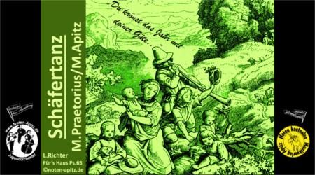 M. Praetorius kostenlose Noten Jugendorchester Trompete Posaune Klarinette Flöte Cello L. Richter Kinderorchester