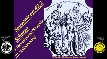 P. Tschaikowski kostenlose Noten Orchester Streicher Holzbläser Saxophon Blechbläser Drum Kirmes Busch W.