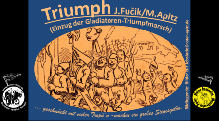 J. Fucik kostenlose Noten Orchester Streicher Holzbläser Saxophon Blechbläser Drum Kirmes Busch W.