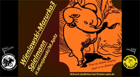 H. Wieniawski kostenlose Noten Orchester Streicher Holzbläser Saxophon Blechbläser Drum Kirmes Busch W.